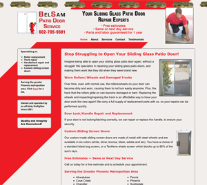 BelSam Patio Door Service