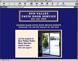 Sun Vally Patio Door Service, Phoenix, Arizona