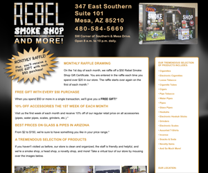 Rebel Smoke Shop - Mesa Arizona